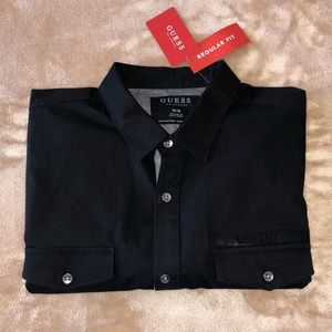 GUESS SHIRT ZIP POCKET